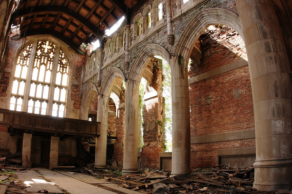 Sanctuary Abandoned City Methodist Church Gary Indiana