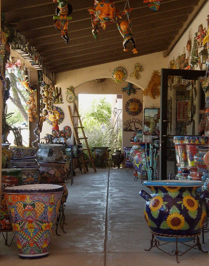 Tubac az coyote61 flickr for Mexican porch designs