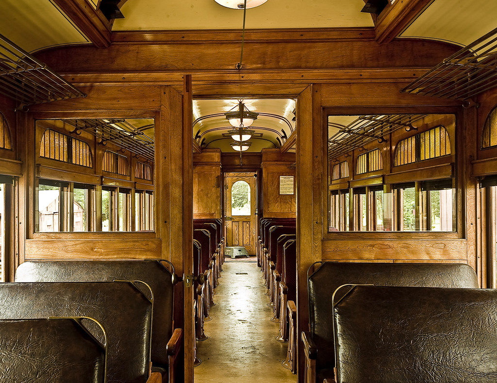 vintage train interior classy old leather and wood halton flickr. Black Bedroom Furniture Sets. Home Design Ideas