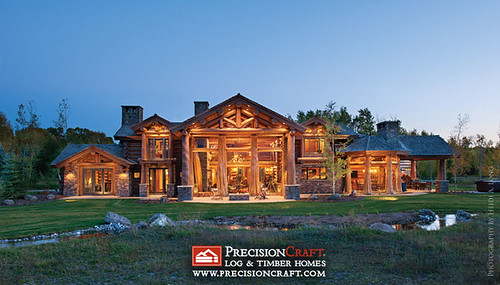 handcrafted log home exterior flickr. Black Bedroom Furniture Sets. Home Design Ideas