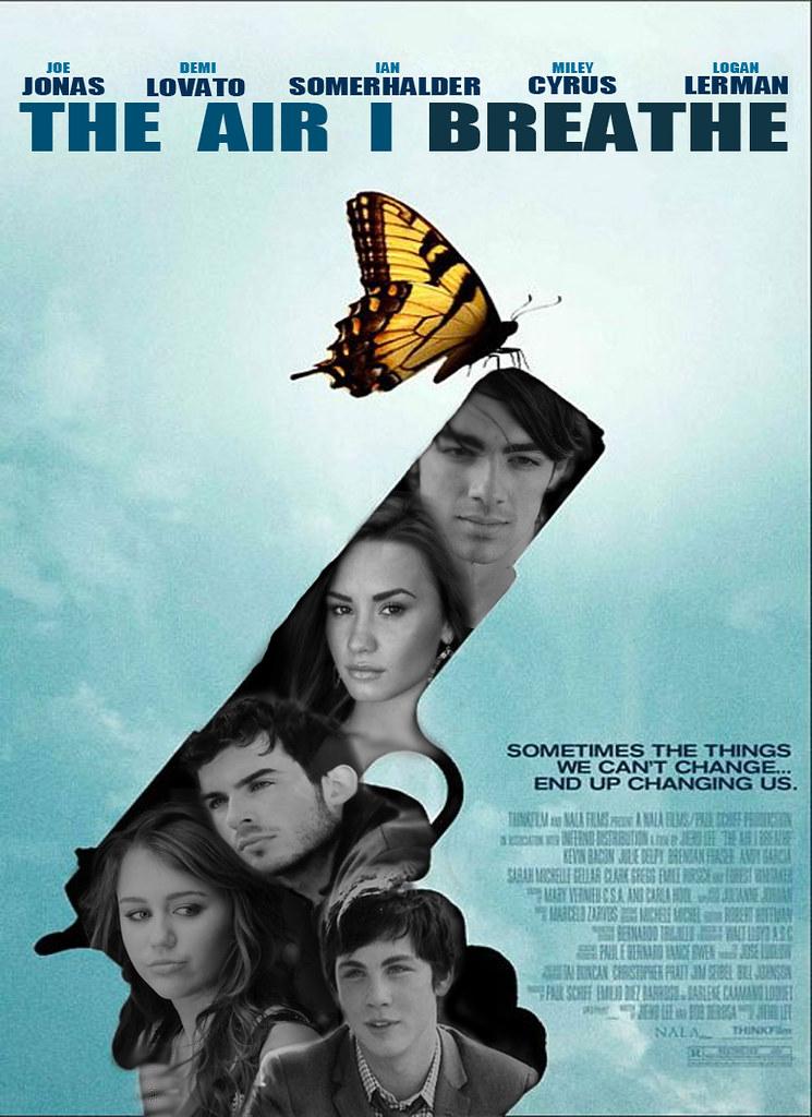 Movie Poster create a movie poster free : Jonas/Lovato/Somerhalder/Cyrus/Lerman Manip - The Air I Br ...