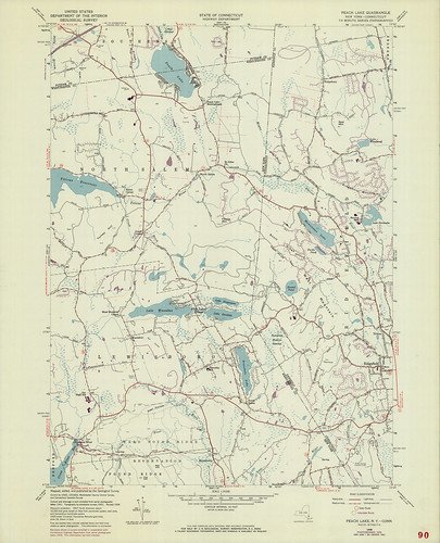 Peach Lake Quadrangle 1970 - USGS Topographic Map 1:24,000 | by uconnlibrariesmagic