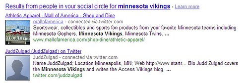 Google Social Search Screenshot - 121/10/09 | by DavidErickson
