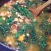 Portuguese Linguiça and Kale soup simmering
