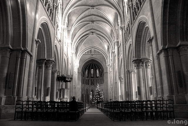 Inside The Cathedral Black White