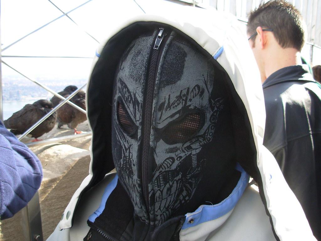 Zip up mask hoodie