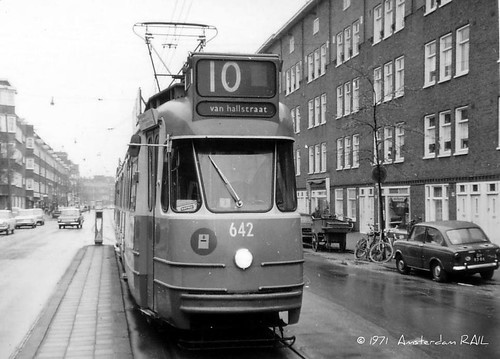 Amsterdam 642 molukkenstraat in 1971 gvb 642 route 10 for Molukkenstraat amsterdam