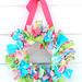 preppy rag wreath