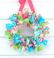 lilly pulitzer preppy rag wreath | by heatherknitz