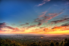 Australia Day Sunrise - Mt Cootha, Brisbane | by jezza323