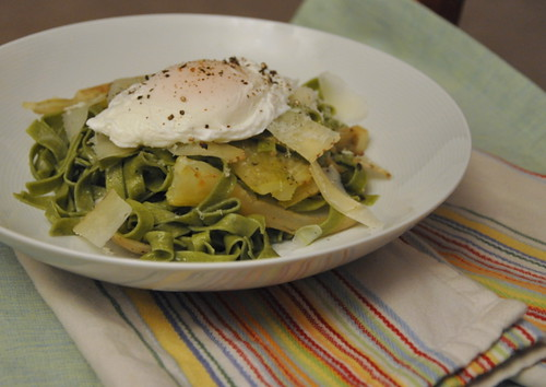 Caramalized Fennel Fettuce with a Poached Egg | by Turntable Kitchen