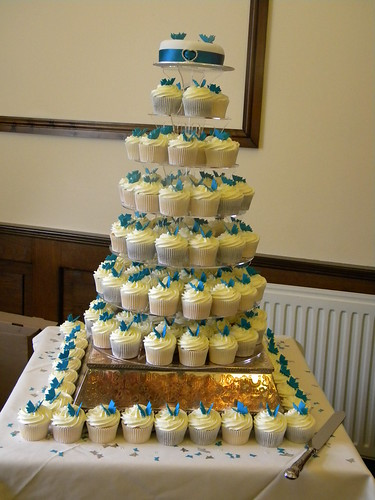 wedding cake cupcake pan teal butterfly theme wedding cupcakes teal butterfly 8603