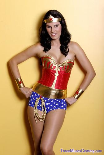 Custom Made Wonder Woman Costume  Candy Keane As Wonder -7001