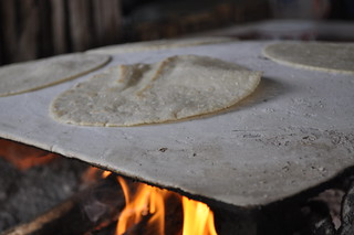 tortilla making on an open fire | by celticjig1