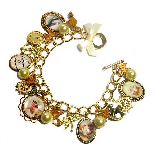 Peter Pan vintage inspired charm bracelet | by Cherished Trinkets
