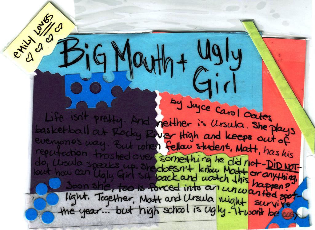 big mouth and ugly girl Pris: 72 kr häftad, 2003 finns i lager köp big mouth and ugly girl av joyce carol oates på bokuscom.