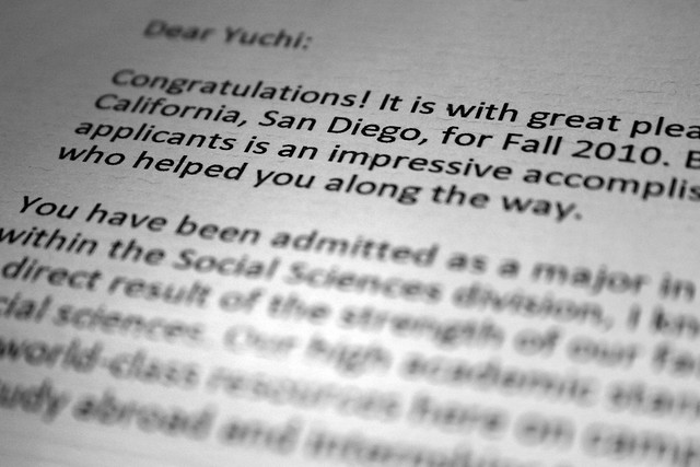 Acceptance Letter From UCSD