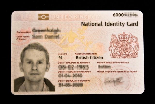 Uk National Identity Card Front Flickr Photo Sharing