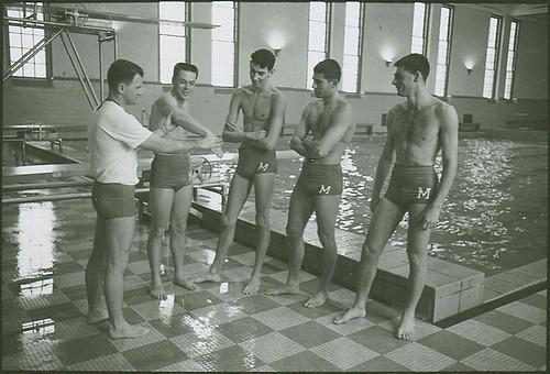 1960 Men 39 S Swim Team Men S Swimming Coach Bill Campbell