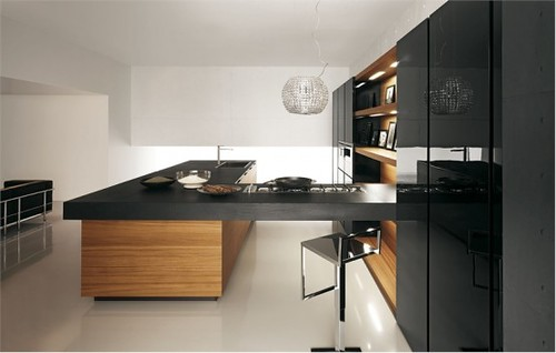 Kitchens With Wood Grain Finish