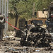 Bombing in Kabul, Afghanistan on May 18, 2010 which resulted in the deaths of NATO soldiers. The U.S. and its allies have occupied this central Asian nation since 2001. The Obama administration has ordered in another 30,000 troops.