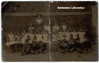 1915: Rodbourne Cheney Infants School, Swindon (Postcard) | by Local Studies, Swindon Central Library