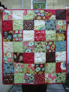 Simple Squares Panache Baby Quilt | by Scissors & Thread