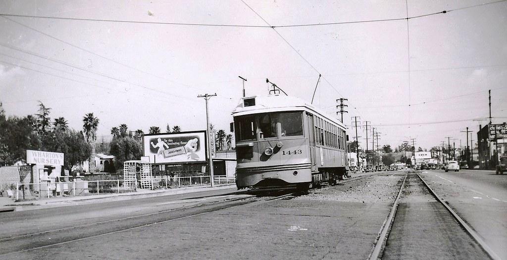 005 - L.A.T.L. 5 Line Car 1443 Westbound At Colorado Blvd. & Mt. Royal Ave. 19480229