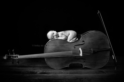 Little fellow. Big cello. | by carrie sandoval