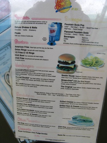 Mariner Of The Seas Johnny Rockets Menu Jasperdo Flickr