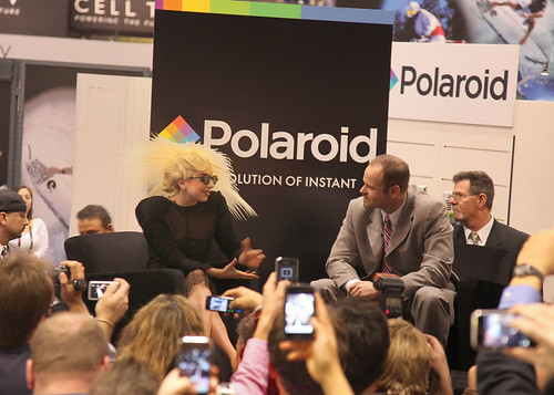 Lady Gaga with Polaroid | by International CES