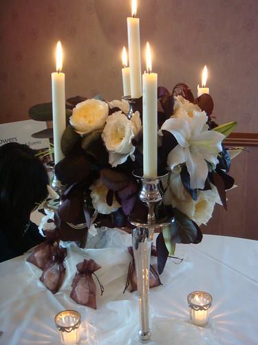 wedding candelabra flower