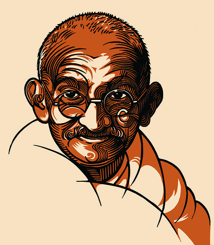 Gandhi book cover - final image | by linocutboy