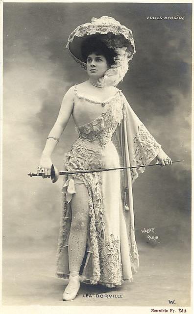 1905 Folies Bergere Fencing Actress | Lea Dorville | #1 ...