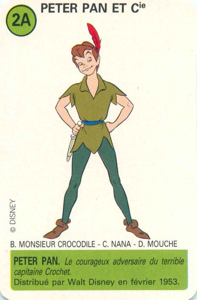 Disney Jeu D'atout Ducale- Peter Pan | Peter Pan | Mark ...