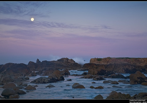 Asilomar Moonset PSIMG_1710-web | by Tom DiMatteo