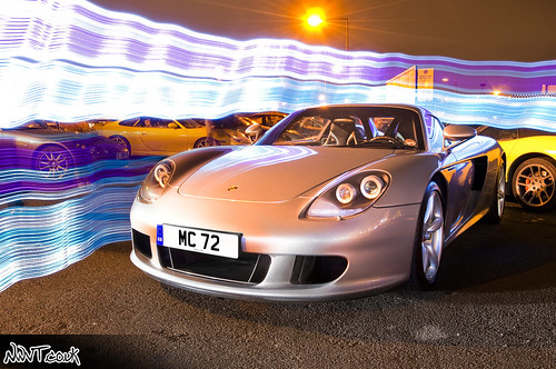 Petrolhead Nirvana Ace Cafe Meet Febuary 2010 Silver Porsche Carrera GT Light Painted And Multiple Trails Low Front Quarter Shot | by NWVT.co.uk