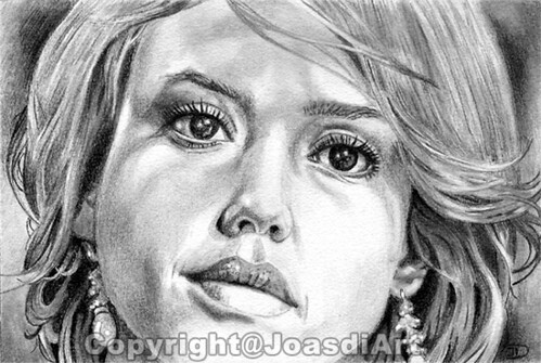Jessica Alba | Pencil drawing. For more drawings see: www.jo ...