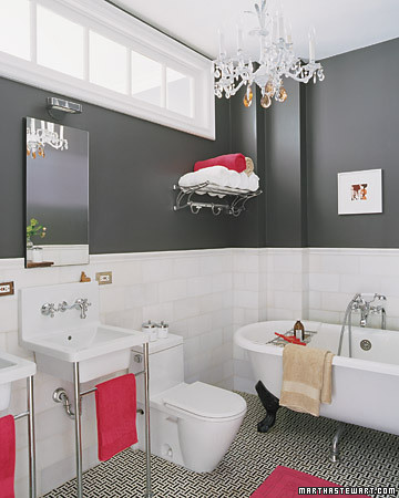 pink gray bathroom flickr. Black Bedroom Furniture Sets. Home Design Ideas