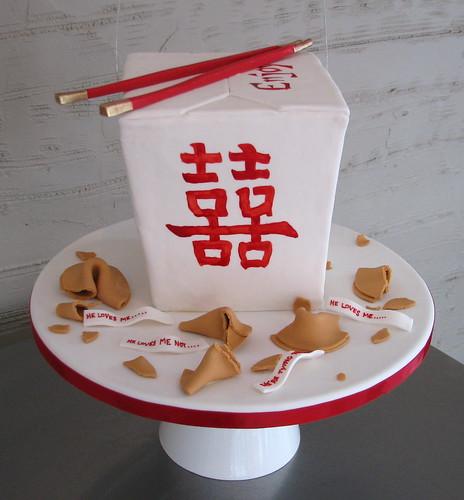 Chinese Take-Out Box Cake