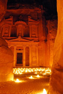 the treasury by candlelight, petra | by hopemeng