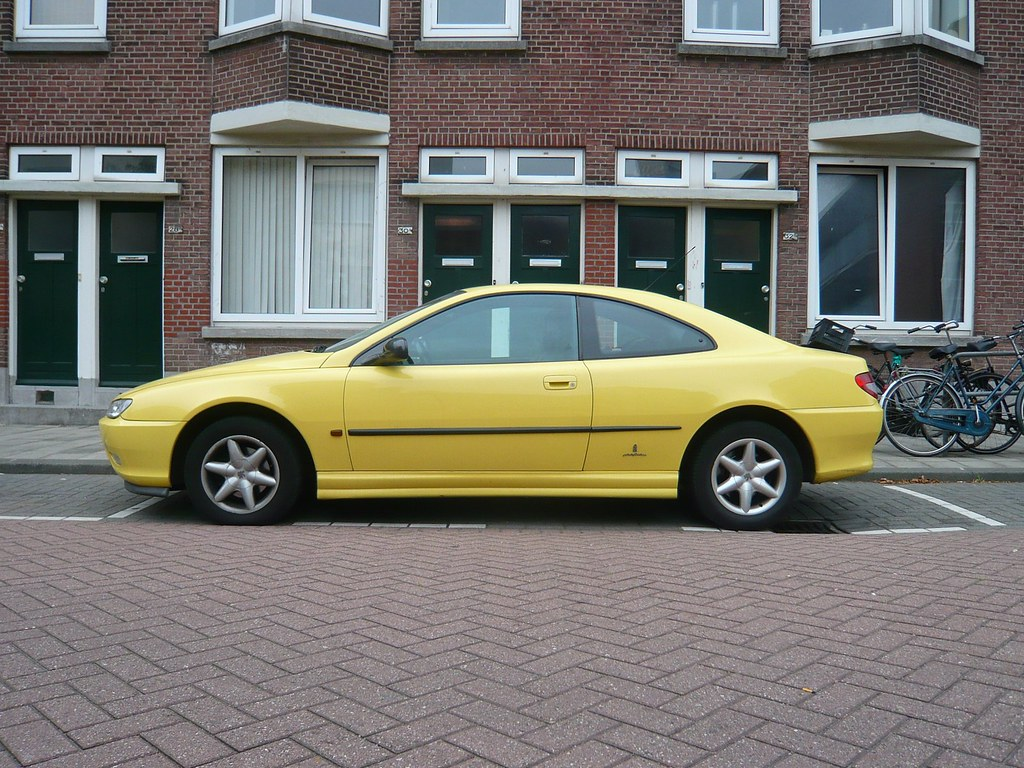 yellow peugeot 406 coup 2 0 1998 oerendhard1 flickr. Black Bedroom Furniture Sets. Home Design Ideas