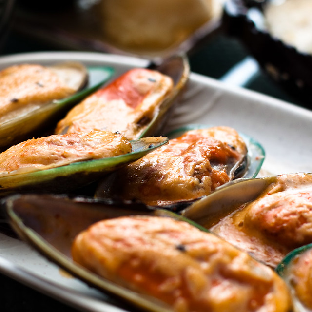 Japanese Grilled Mussels with hot sauce | Dim Sum! | Flickr