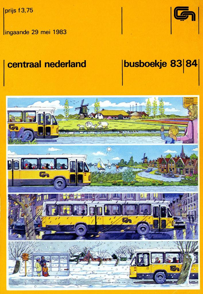 CN busboekje 83-84 | CN, Central Netherlands, bus timetable