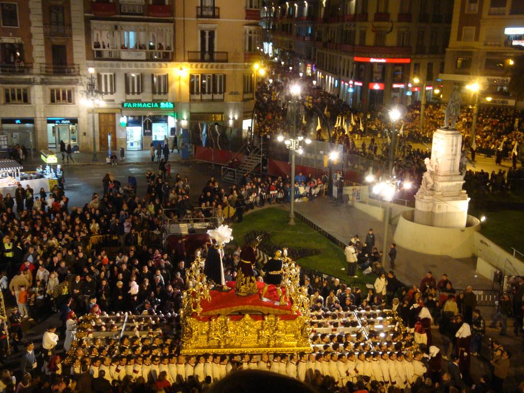 Procesión en la Semana Santa de Málaga