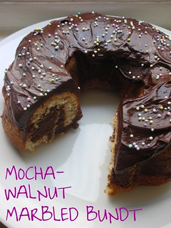 mocha-walnut marbled bundt cake | by awhiskandaspoon