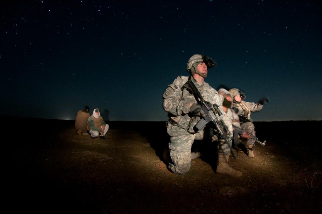 tactical patrol at night