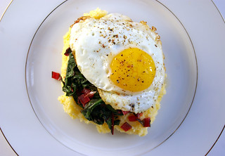 Polenta and chard with egg | by Patent and the Pantry
