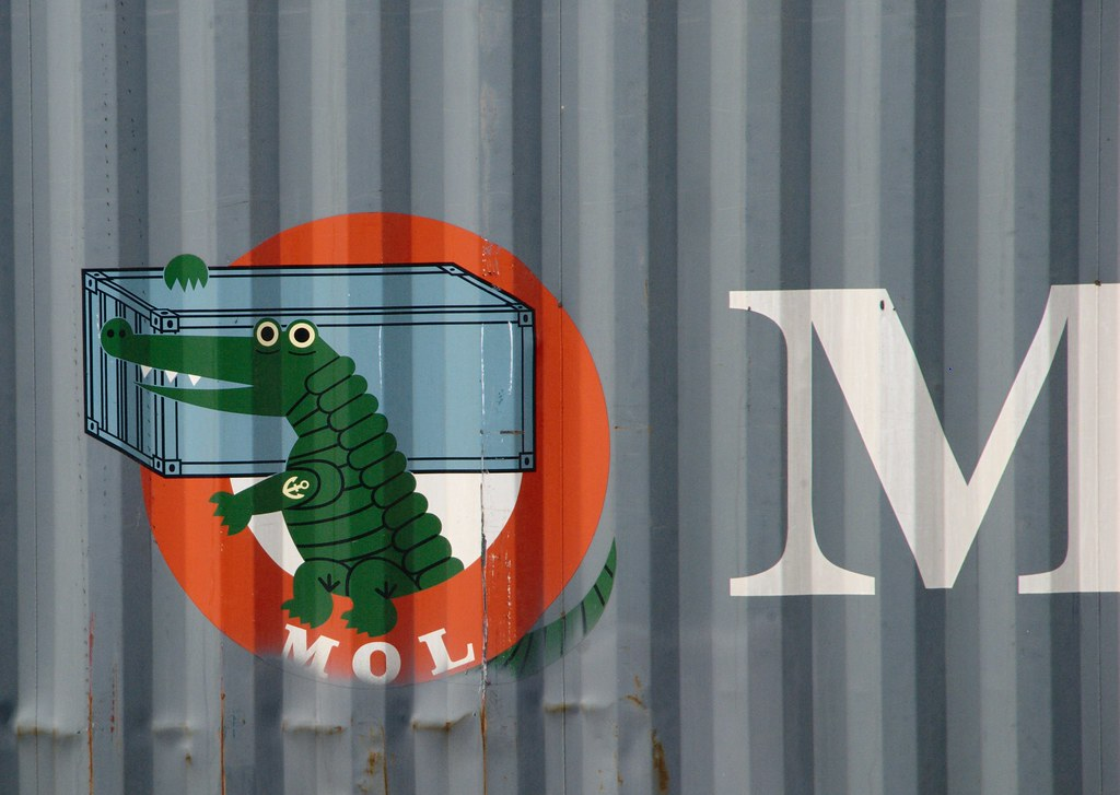 mol logo alligator mol logo on a container on the ship