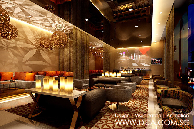 Novotel vizag lounge bar hotel 3d rendering 3d for Design hotel 3d